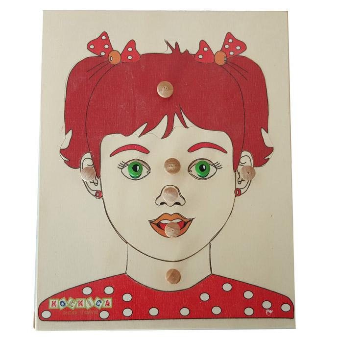 Djevojčica lice puzle 3+